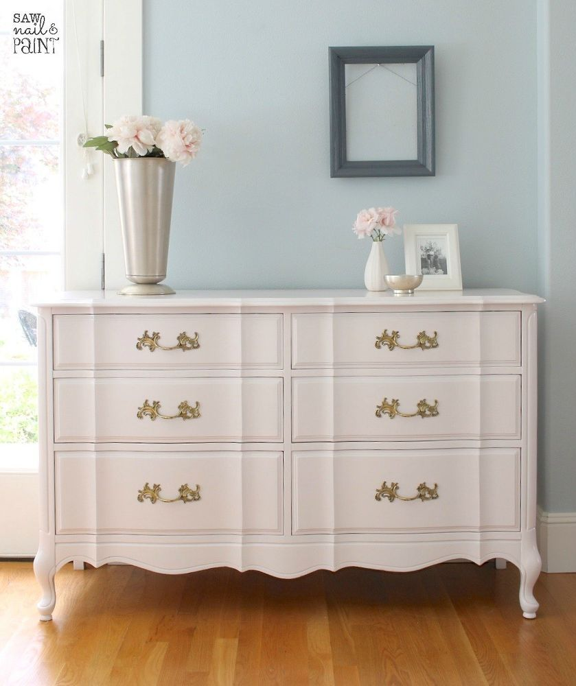 Silky smooth french provincial dresser and mirror - Painted french provincial bedroom furniture ...
