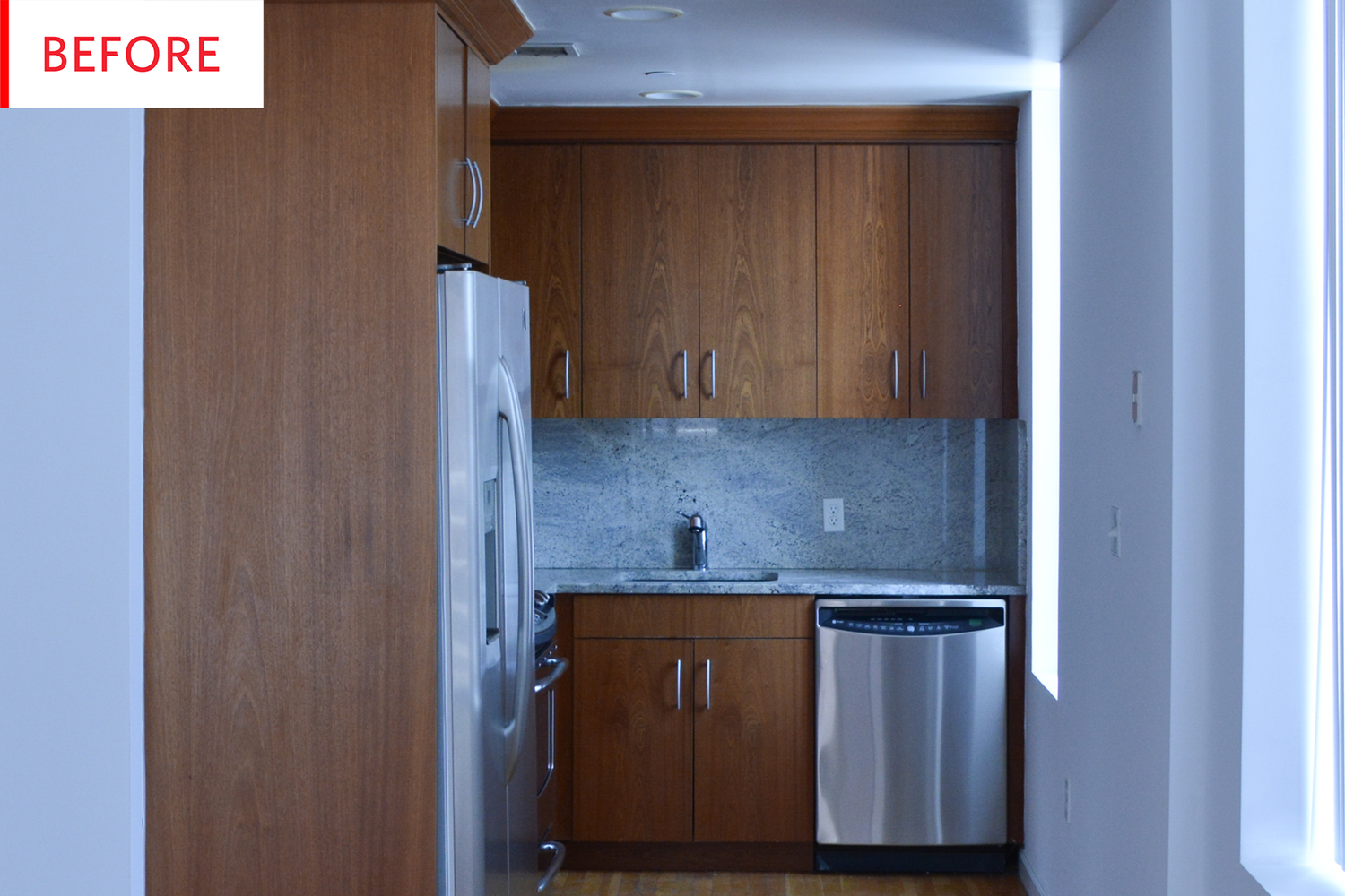 Basic kitchen cabinets  Before and After A Basic Kitchen Says Goodbye to Boring  Kitchens