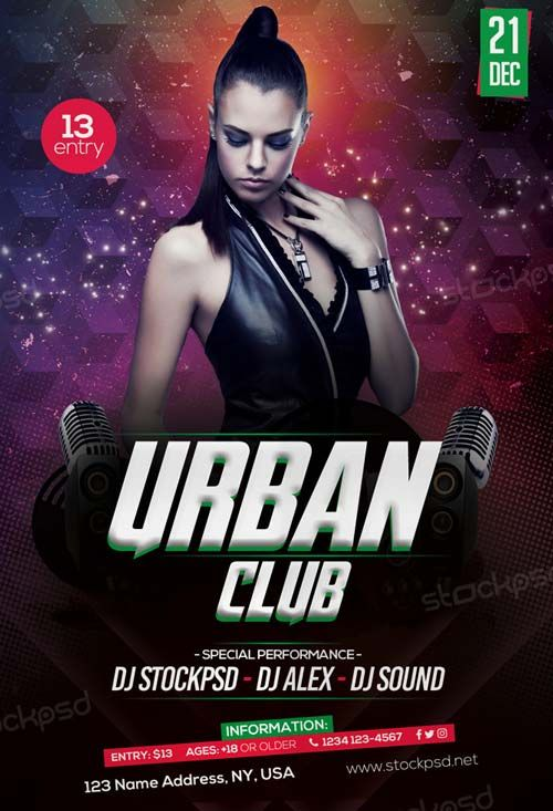 Free Urban Club Party Flyer Template Httpfreepsdflyerfree