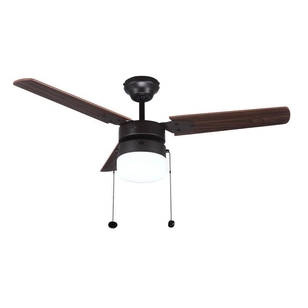 Hampton Bay Montgomery 42 In  Indoor Oil Rubbed Bronze Ceiling Fan With Light