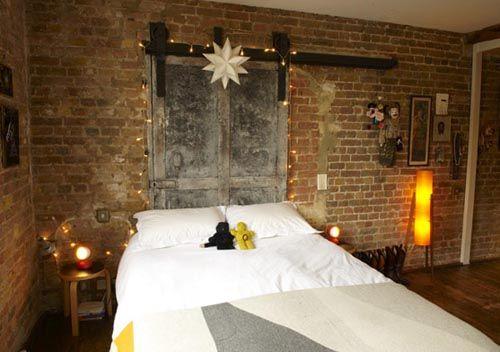 Bedroom   Exposed Brick Wall