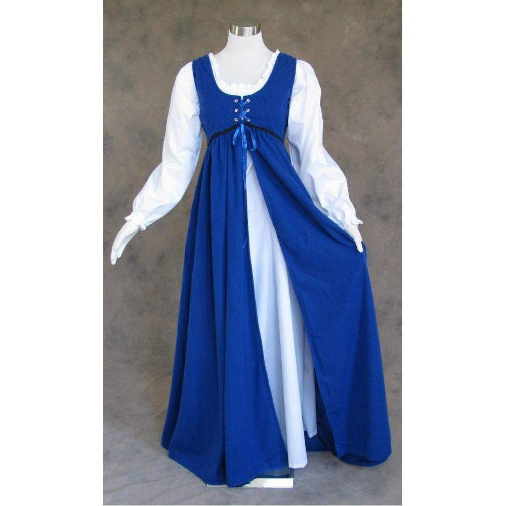 Royal blue medieval renaissance gown dress creative inspiration