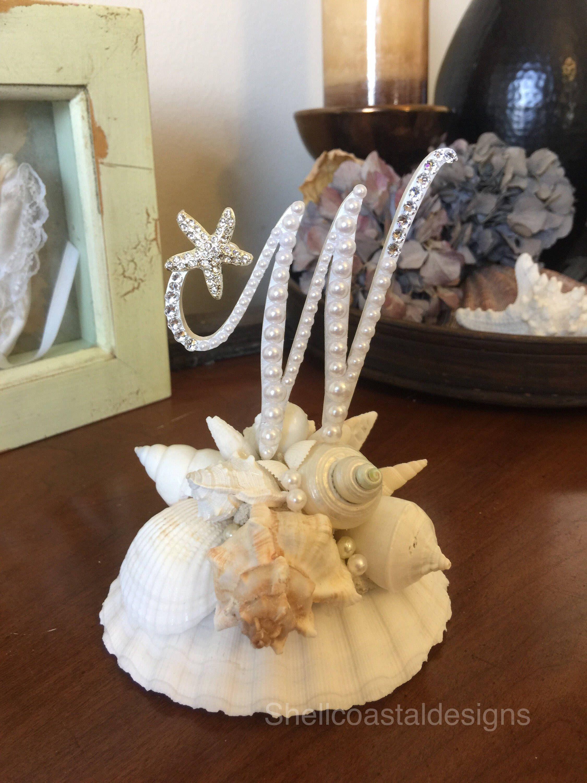 Beach cake topper wedding cake topper shell cake topper