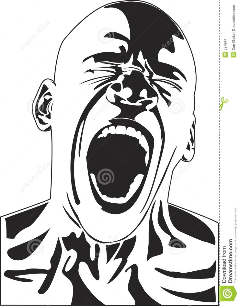 Personas Gritando Busqueda De Google Anger Art Screaming Drawing Art
