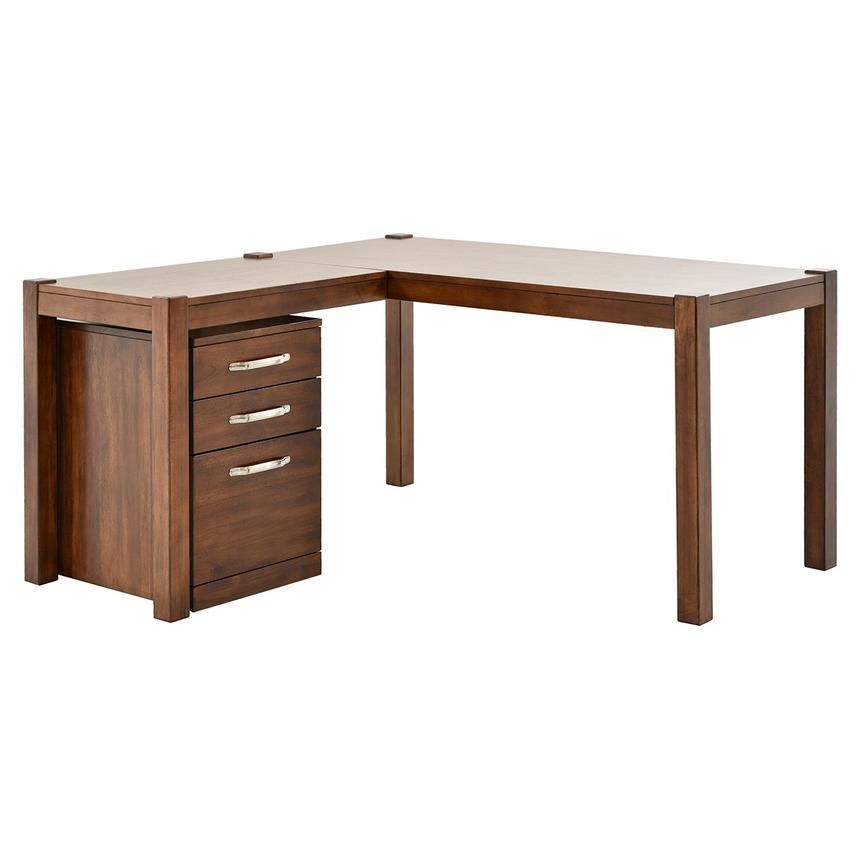 Kayu L Shaped Desk W File Cabinet L Shaped Desk Desk Modular