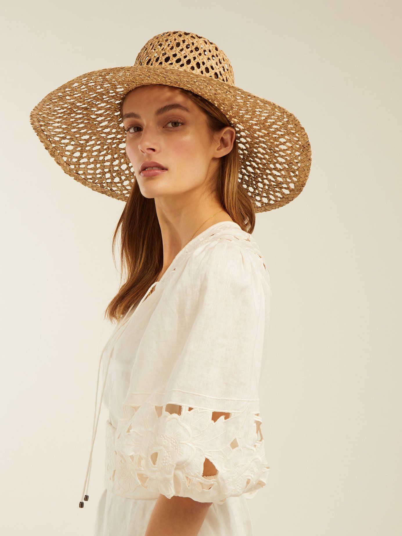 Espalier open-weave wide-brim raffia hat  fe13f2e57cd9