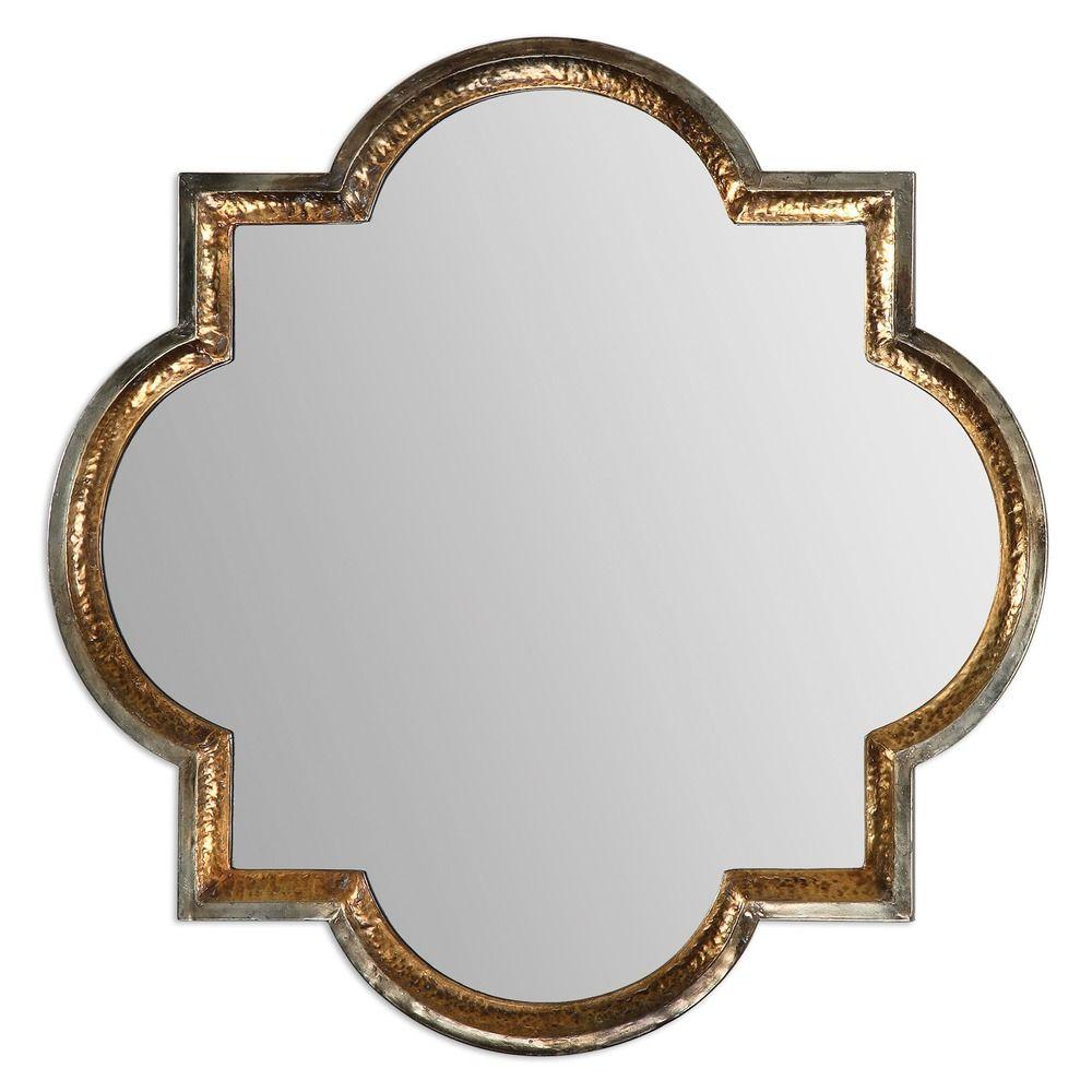 Uttermost Lourosa Gold Mirror At Destination Lighting In 2021 Framed Mirror Wall Gold Mirror Wall Antique Gold Mirror