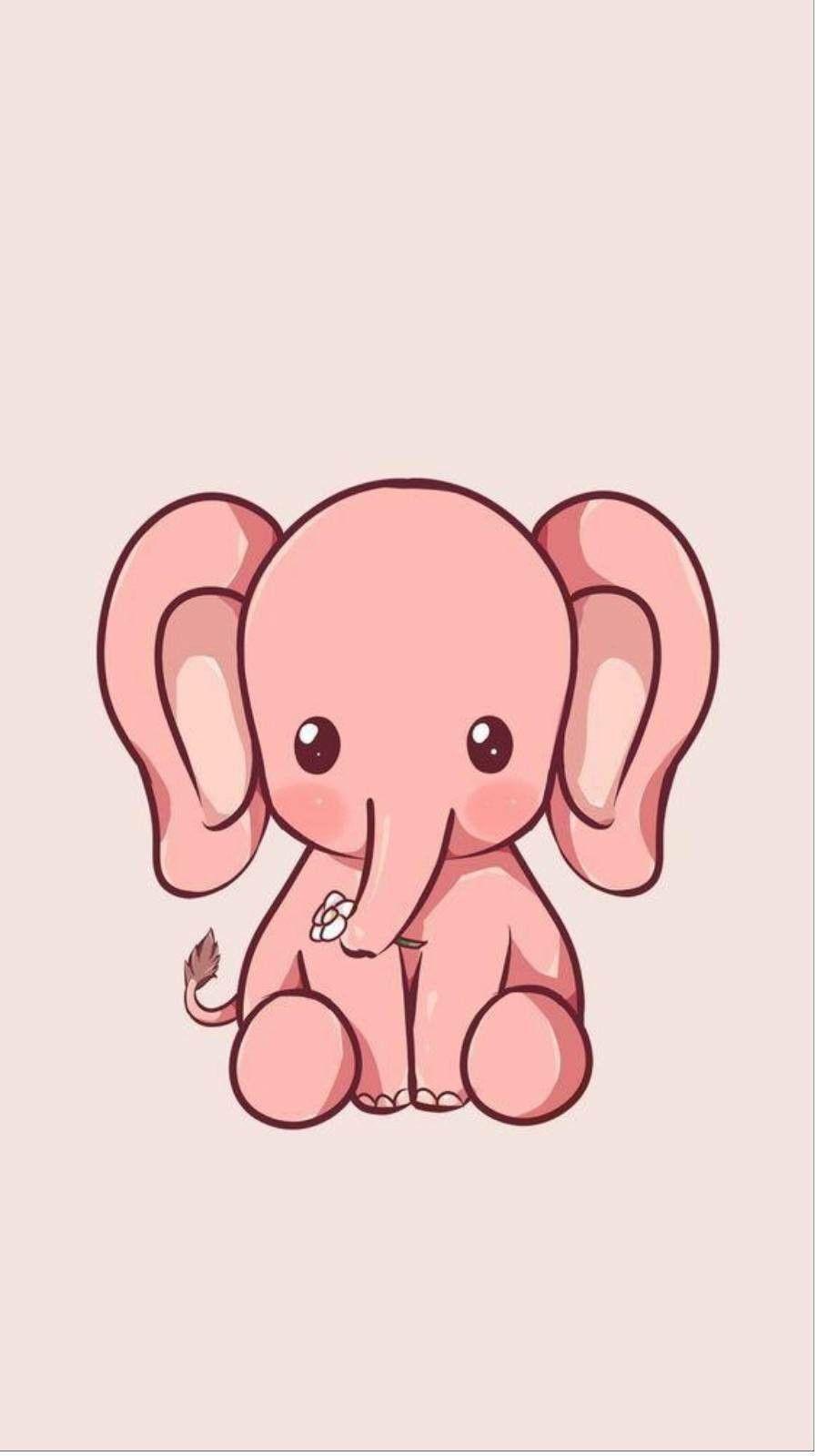 Pink Elephant Wallpaper Elephant Iphone Wallpaper Wallpaper Iphone Cute Cute Elephant Drawing