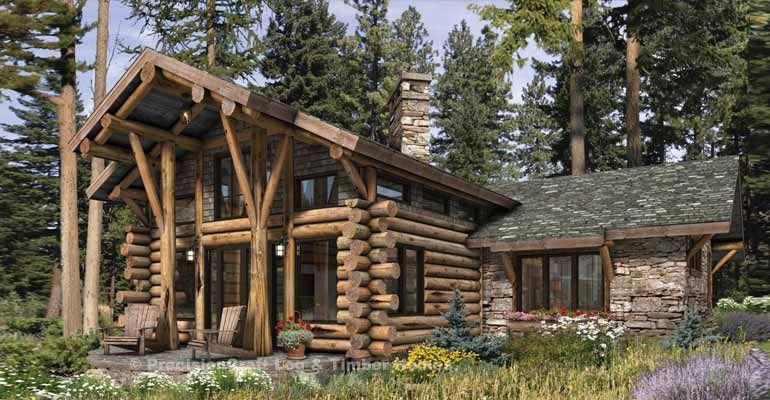 Telluride Log Home Floor Plan In 2020 Log Cabin Homes Log Cabin Plans Log Home Floor Plans