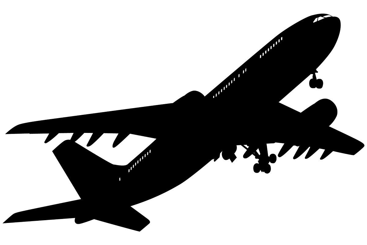 Set Of Airplanes Silhouettes Airplane Silhouette Plane Silhouette Silhouette