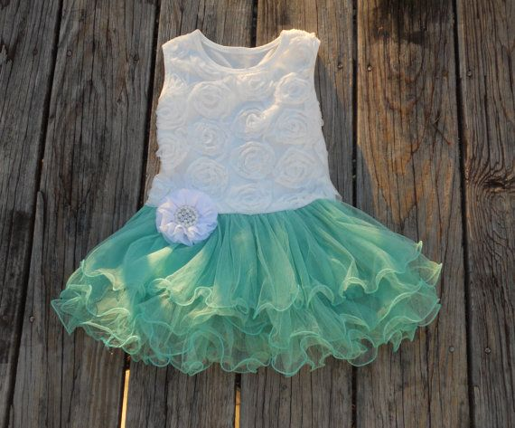 Green flower girl dressGreen tutu dressParty dressBirthday