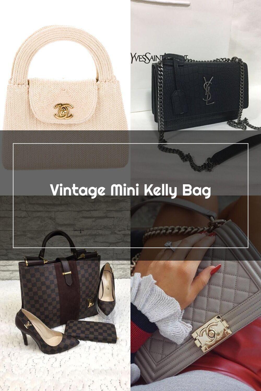 Chanel Vintage Mini Kelly Bag Handbags Cha291160 The Realreal In 2020 Kelly Bag Bags Bags Handbags