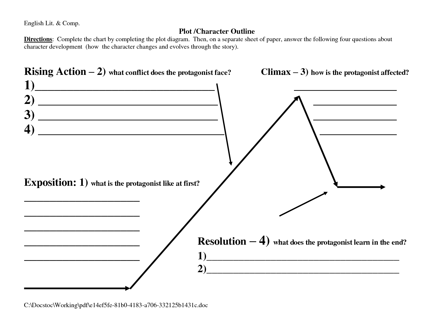 Plot Outline by eEL32Co Gb5nSH5L – Plot Outline Worksheet