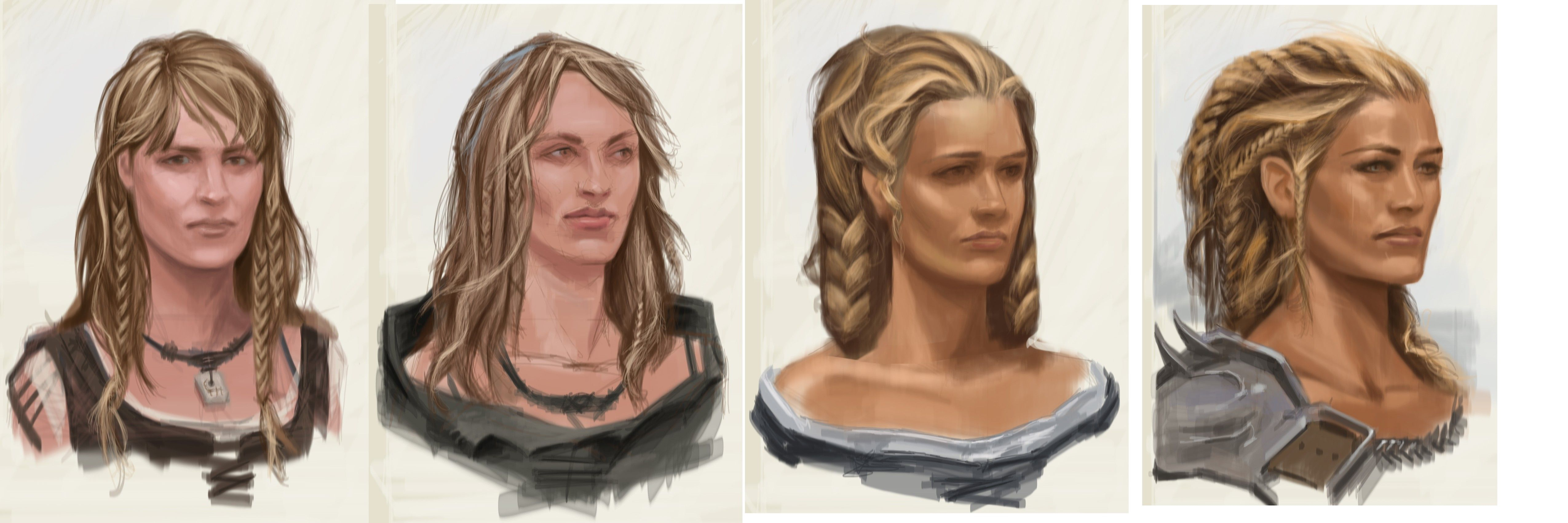 Nord Hair Female Video Games Artwork Skyrim Medieval Hairstyles Female