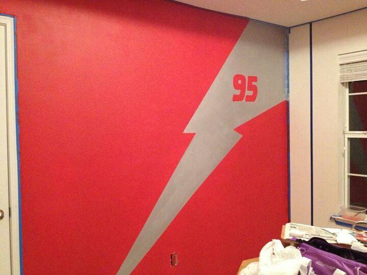 Lightning Mcqueen 95 Logo And Lightning Bolt Joshua S