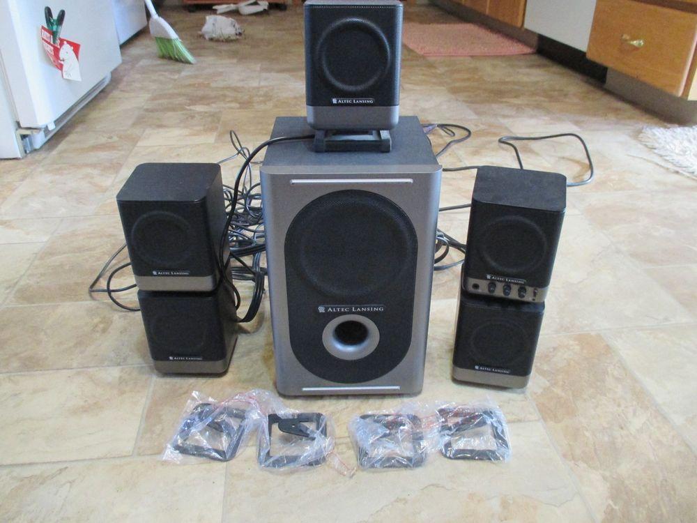 altec lansing 251 5 1 surround sound computer speakers. Black Bedroom Furniture Sets. Home Design Ideas