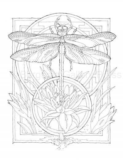 Dragonfly Adult Coloring Pages Animal Coloring Pages
