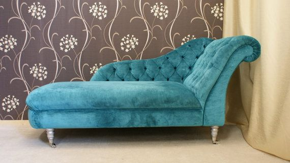 Shabby Chic Chaise Longue In Romo Semper Velvet With Deep