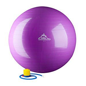 Amazon.com : Black Mountain Products 2000-Pound Anti Burst Exercise Stability Ball with Pump, Purple, 65cm : Sports & Outdoors