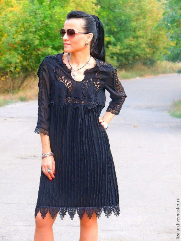 b3825668d84 Купить Маленькое черное БОХО платье - черный