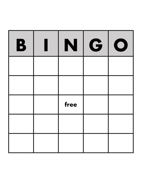 Bingo Game Template Editable By Alldayaba Bingo Template Bingo Card Template Bingo Games