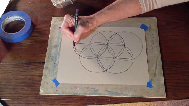 Chris Carter demonstrates the two dimensional layout and the construction of a…