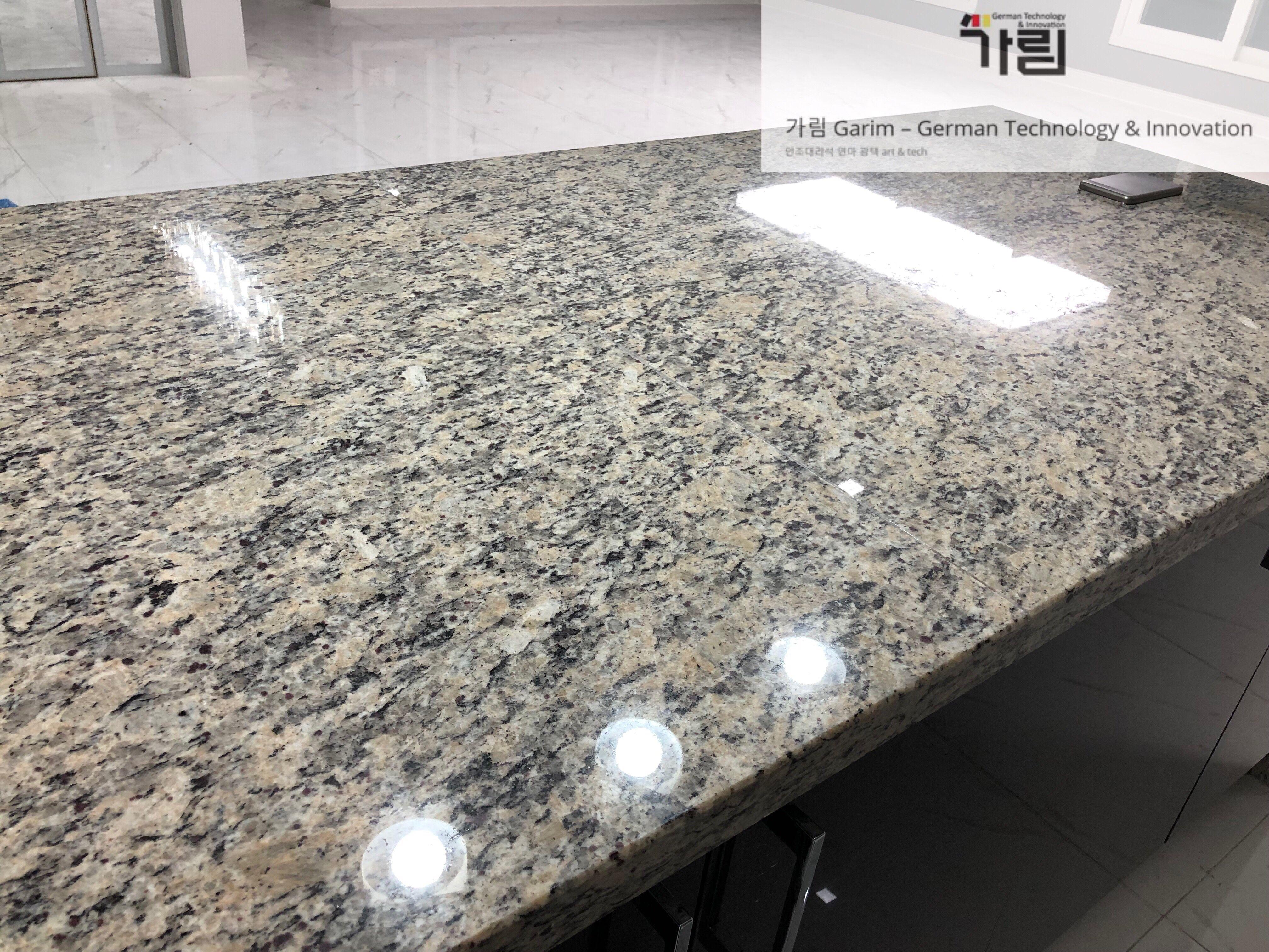 Polishing Fake Marble By Garim S Signature High Technology Www Garimtech Com 부엌 주방 인조대리석 엔지니어드스톤 싱크대 상판 연마 인테리어 디자인 가림시그니쳐 디자인 인테리어 부엌