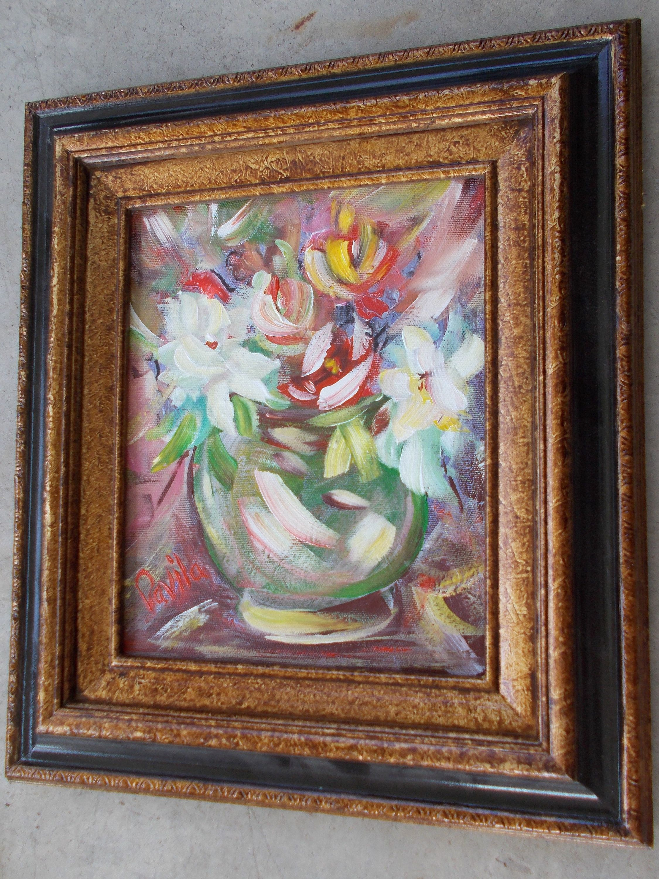 Original Spring Floral impressionistic acrylic painting hand painted ...