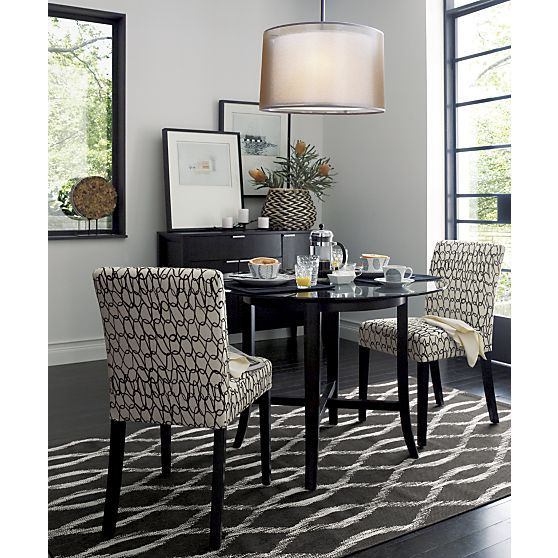 Halo Ebony Dining Tables With Glass Top Crate And Barrel