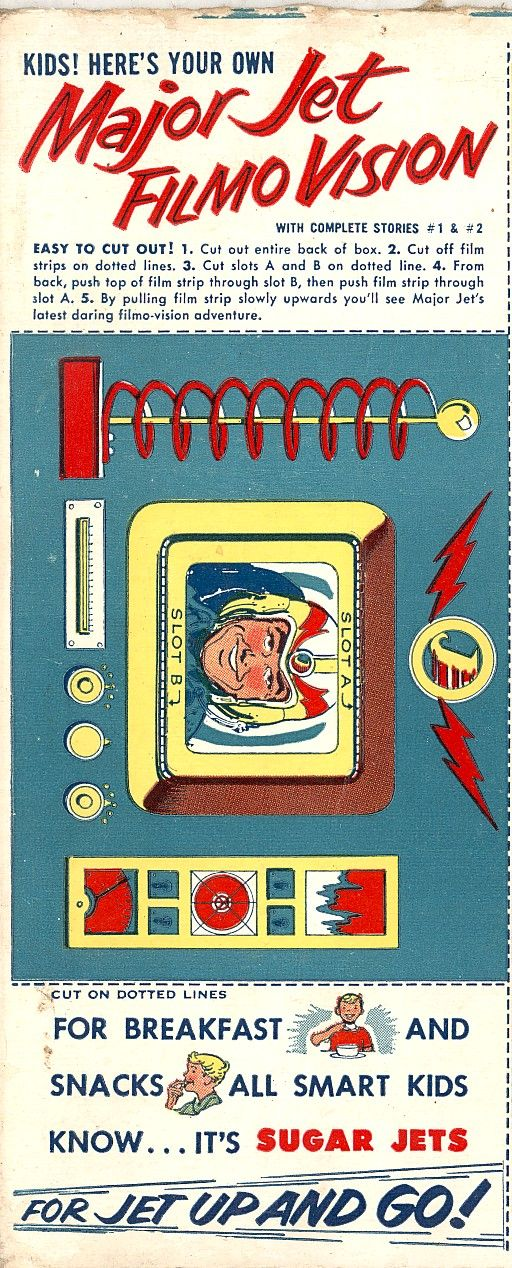 A Short One Today From A 1954 Sugar Jets Cereal Box Sugar Jets Was