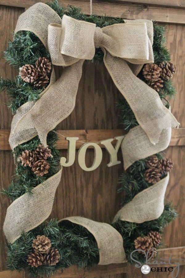 DIY Rectangle Christmas Wreath Square wreath, Christmas