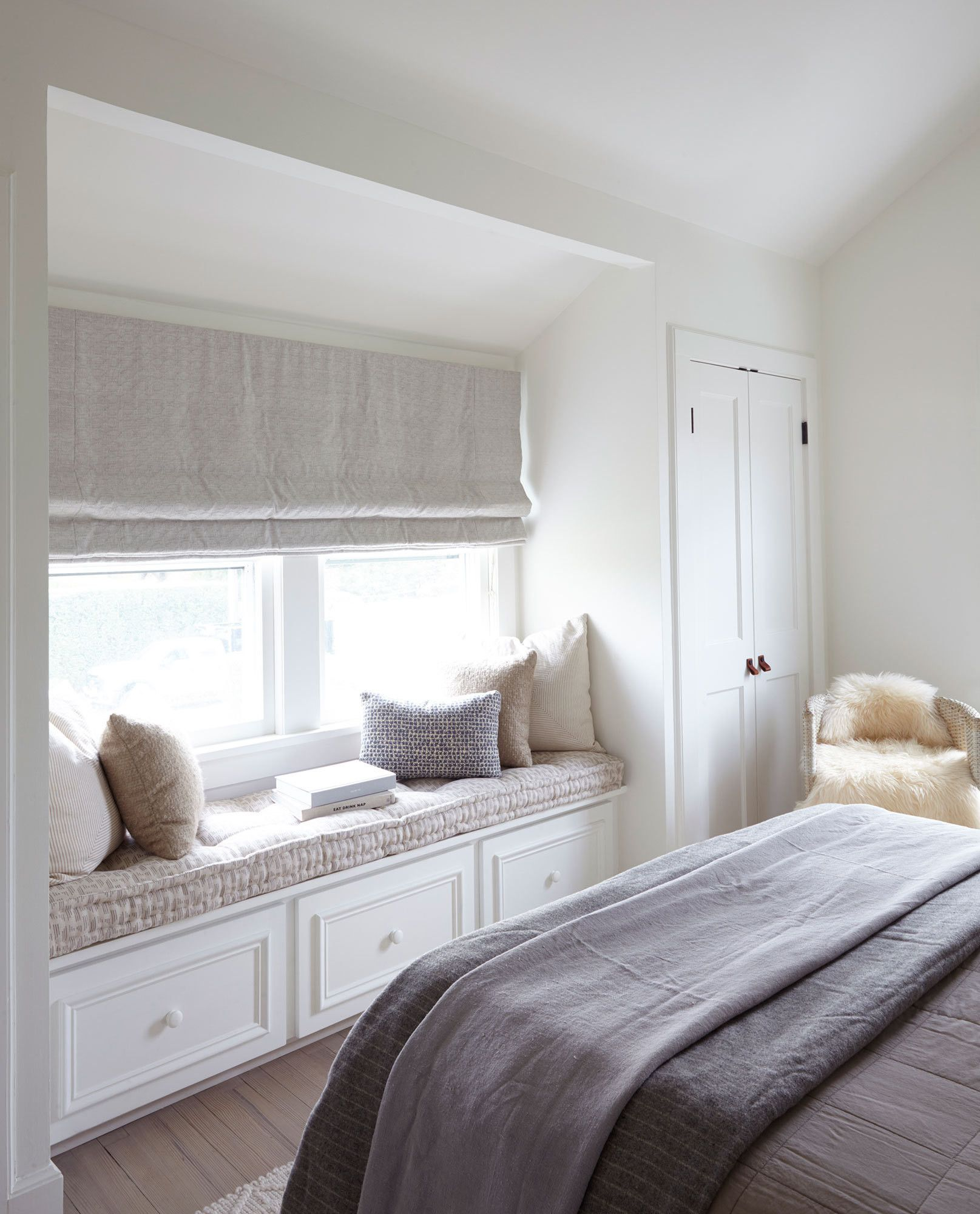 Window seat with bed  bench warmer  bedroom  pinterest  patios window and bench