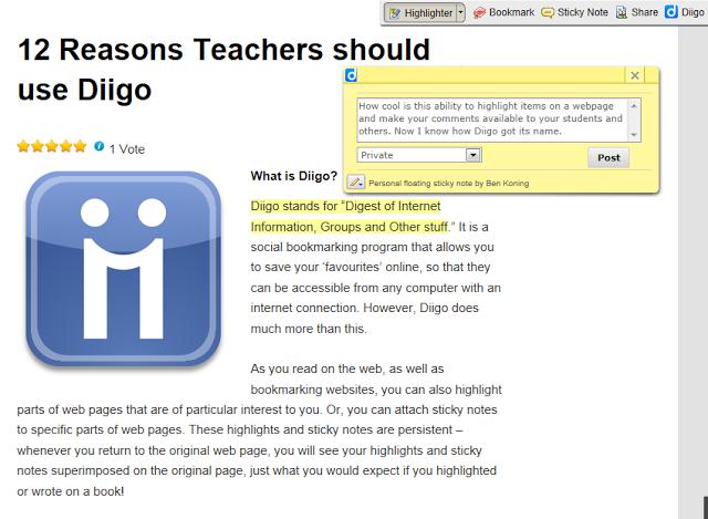 Cosas por las que un profesor debería usar Diigo