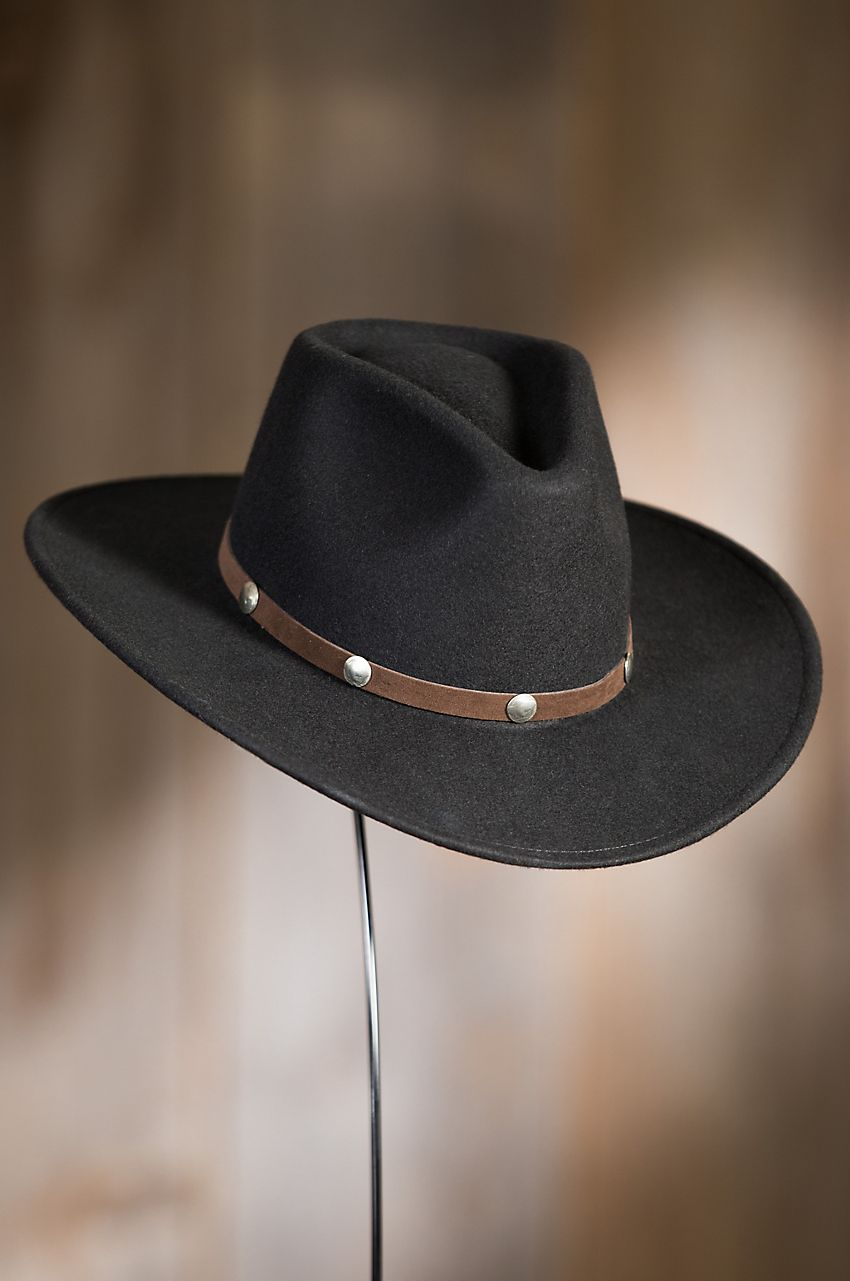 4fefd55f7a391 Our classically styled Tahoe Stetson Hat features historic buffalo nickel  replicas on its velvety soft leather hatband. Made in the USA.
