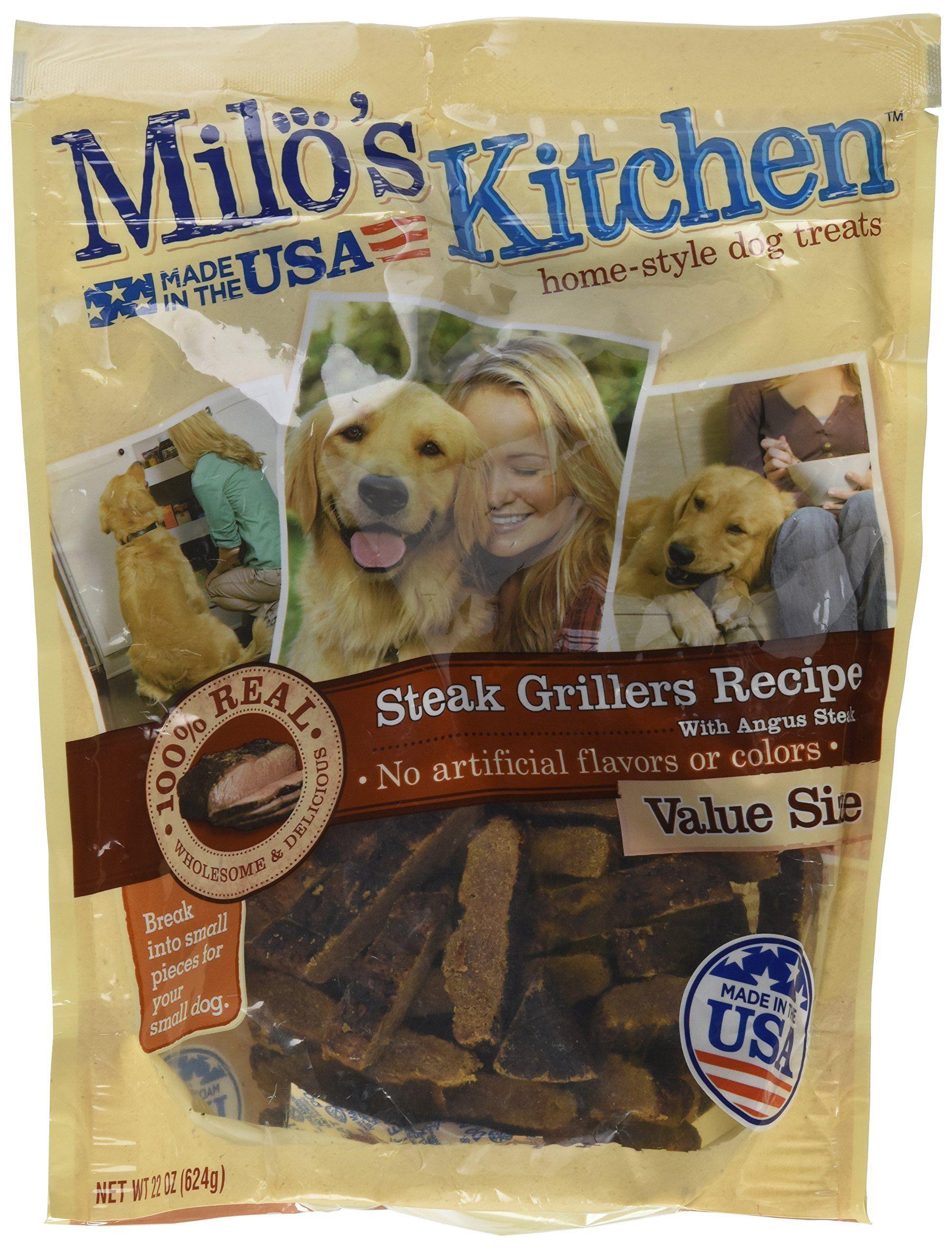 Milo S Kitchen Big Heart Pet Treats Grilled Steak 22 Oz Chicken