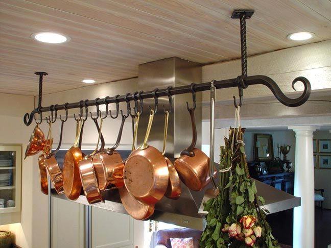 Blacksmith Custom Designed Kitchen Pot Racks And Shelves
