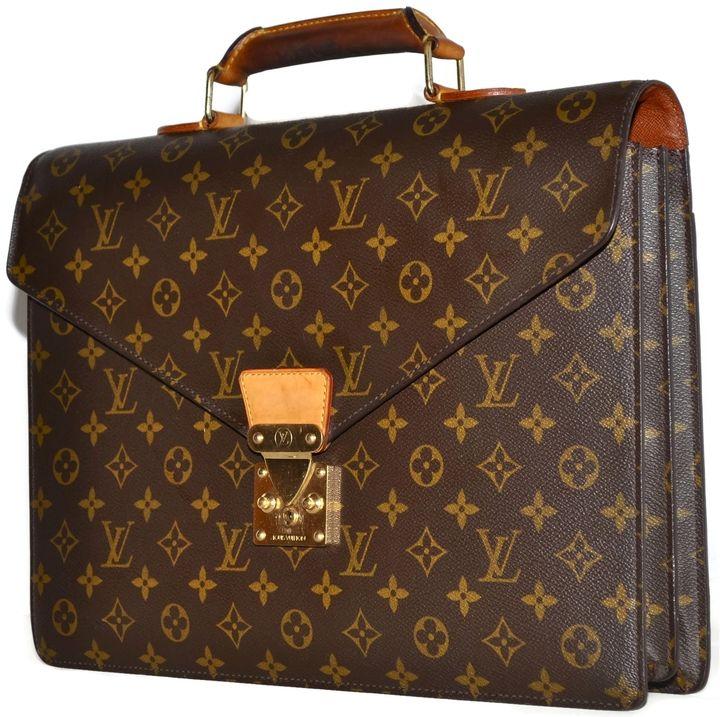 Authentic Vintage Louis Vutton Attache Briefcase Monogram Serviette Conseiller Louis Vuitton Canvas Laptop Bag Louis Vuitton Laptop Bag