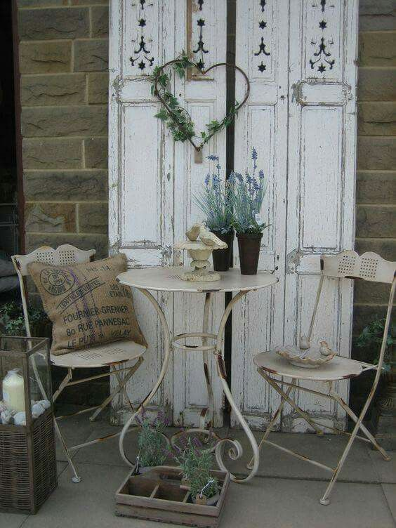 shabby chic drau en deko pinterest g rten balkon. Black Bedroom Furniture Sets. Home Design Ideas