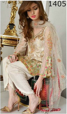 9cf2d74cbeb FULL EMBROIDERY Designer 3PC NET Suit With EMBROIDERED NET Dupatta - PARTY  WEAR DRESS