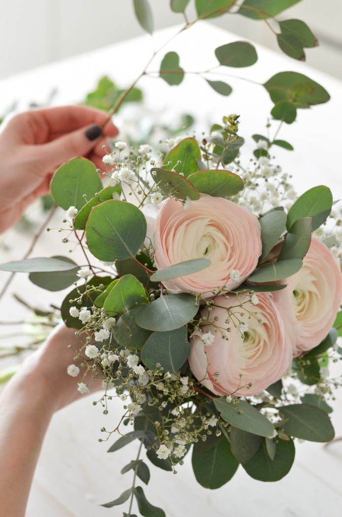 Eukalyptus-Hochzeit – Teil 1: Brautstrauß selber binden