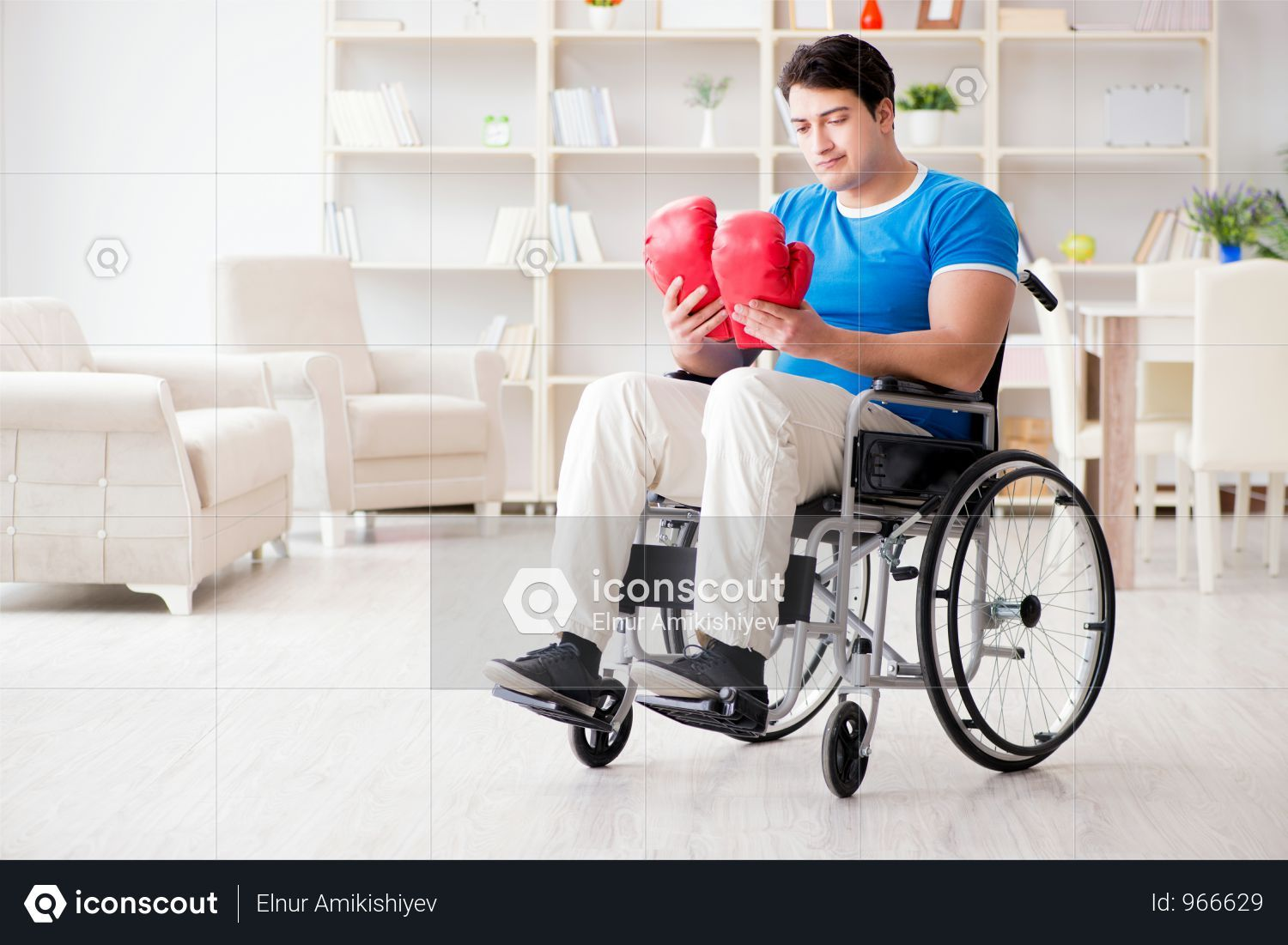 Premium Disabled Boxer At Wheelchair Recovering From Injury Photo Download In Png Jpg Format Disability Recover Wheelchair