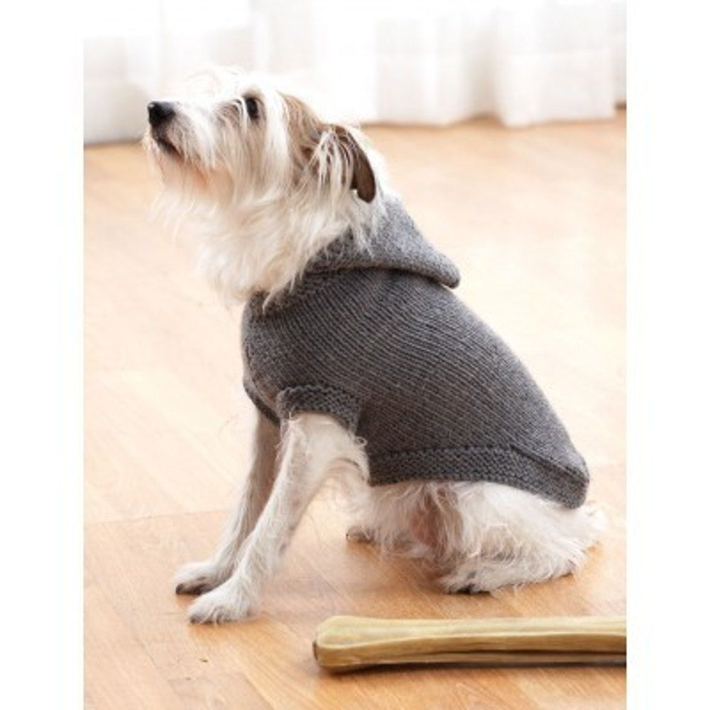 Hoodie Dog Coat in Bernat Super Value | Knitting Patterns ...