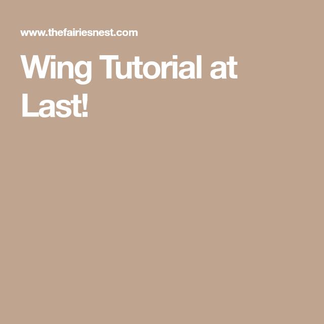 Wing Tutorial at Last!