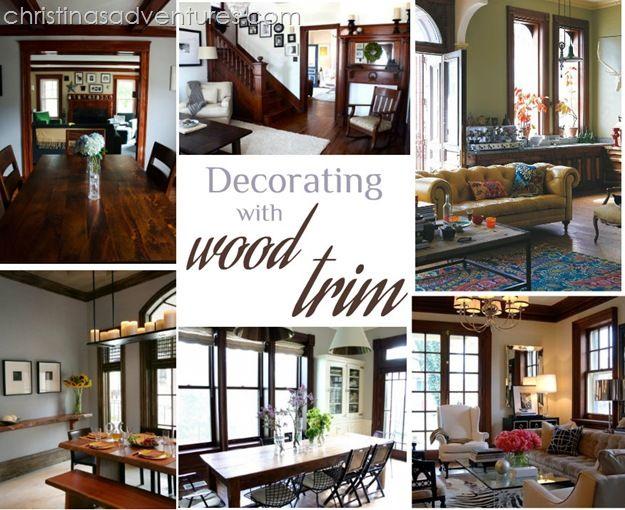 Decorating With Wood Trim Dark Wood Trim Wood Trim Wood Home Decor