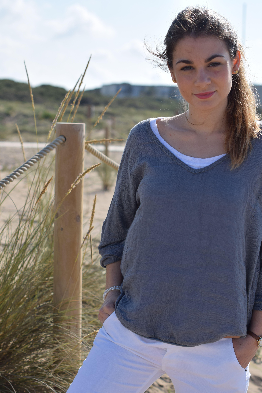 blusa 327 lino gris/grey linen