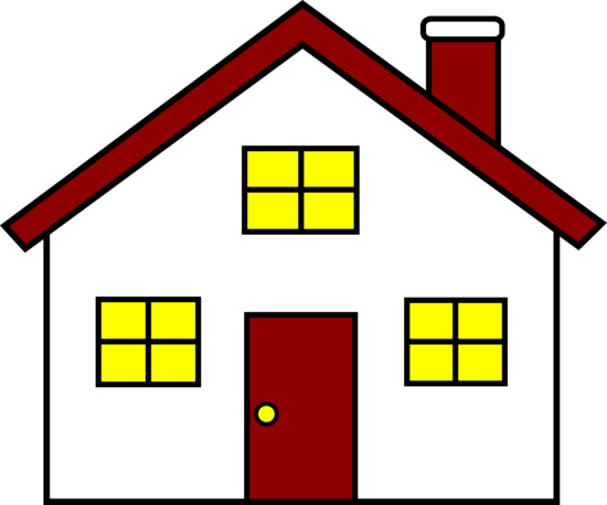 Charming Red And White House Free Clip Art House Clipart Free Clip Art Clip Art