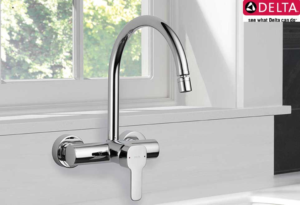 Pin On Delta Faucets Delta wall mounted kitchen faucet