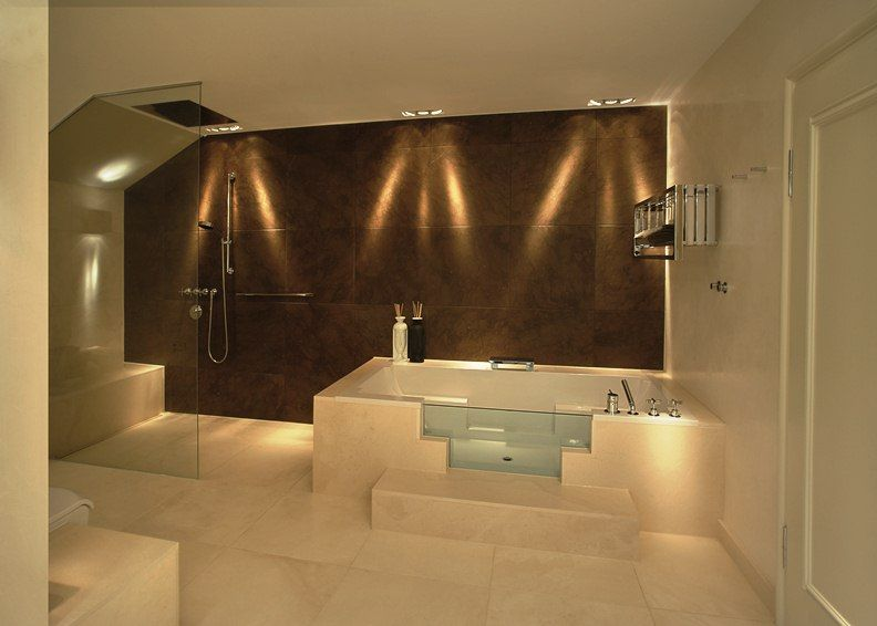 indirekte beleuchtung decke dunkeles interior wandgestaltung - led leuchten f r badezimmer