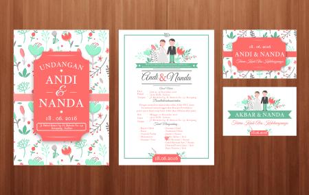 Template Undangan Cdr Vintage Floral Undangan Pernikahan Undangan Pernikahan