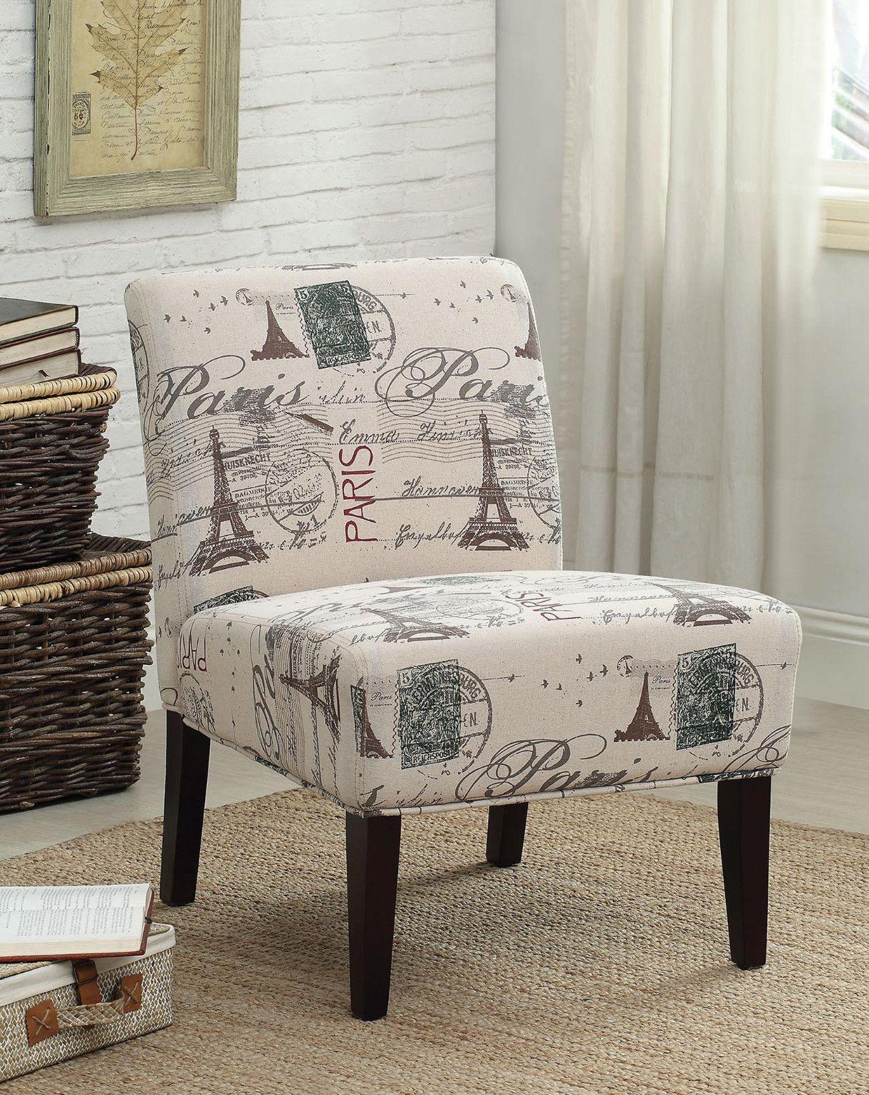 "Paris Stamped Accent Chair White $6.6 6""W x 6""D x 6""H CTC"